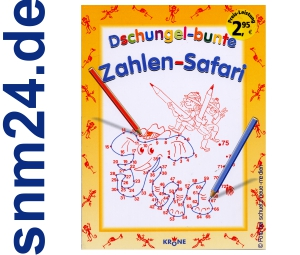 Dschungel-bunte Zahlen-Safari fr Kinder [Taschenbuch]