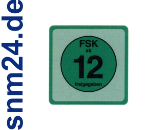 20 Stck FSK 12 Aufkleber / Sticker - FSK ab 12 freigegeben