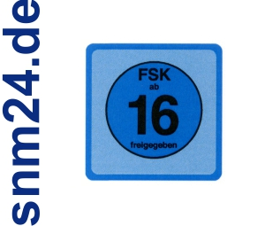 100 Stck FSK 16 Aufkleber / Sticker - FSK ab 16 freigegeben