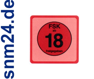 100 Stck FSK 18 Aufkleber / Sticker - FSK ab 18 - keine Jugendfreigabe