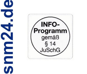 100 Stck INFO-Programm Aufkleber / Sticker - INFO Programm gem  14 JuSchG.
