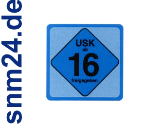 20 Stck USK 16 Aufkleber / Sticker - Freigegeben ab 16 Jahren gem  14 JuSchG