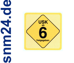 100 Stck USK 6 Aufkleber / Sticker - Freigegeben ab 6 Jahren gem  14 JuSchG.