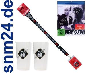 DIE ÄRZTE Fan Merchandising Paket BluRay Richy Guitar + Lanyard + 2 Trinkbecher